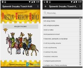 Aplikacja na smartfony do kolędowania