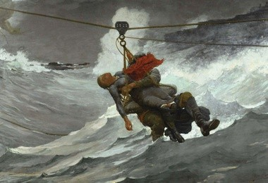 Winslow Homer, Linia życia, 1884, Philadelphia Museum of Art