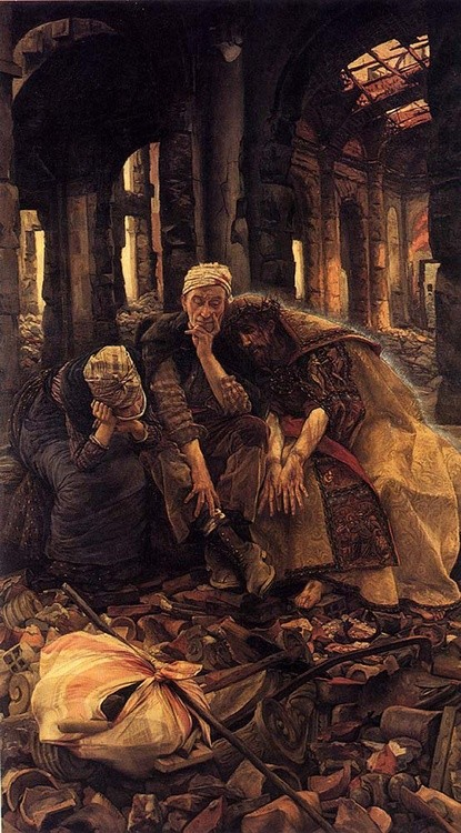 James Tissot (1836-1902), Ruiny 1885, Ermitaż, St. Petersburg, Rosja
