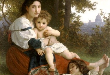 William-Adolphe Bouguereau (1825-1905), Odpoczynek, 1879, Cleveland Museum of Art
