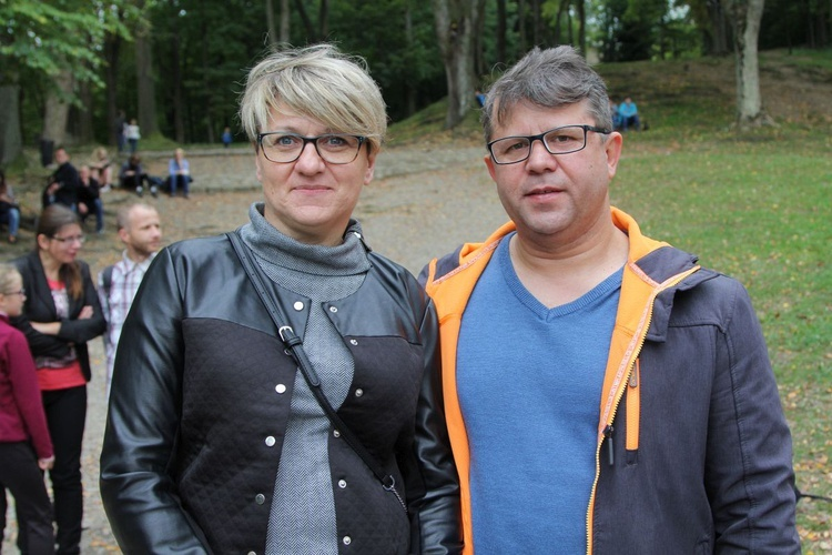 Lucyna i Rafał Pasternakowie z Andrychowa.