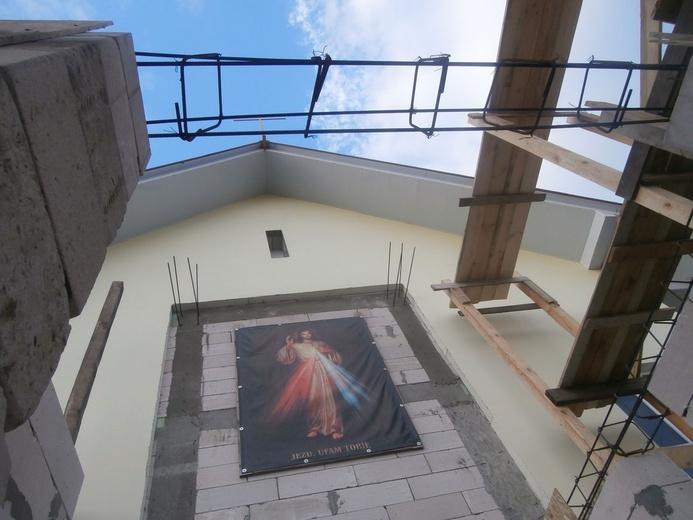 Kościół w Kodymie budowany przez ks. Łukasza.